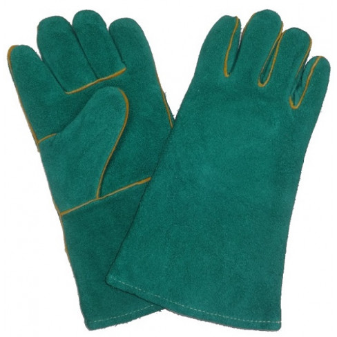"""GLOVES WELDING ELBOW GREENLINED 8"""" - 12 PACK"""